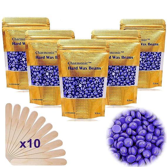 Amazon.com : 17.5 Oz Hair Wax Beans by Charmonic, Hard Body Wax Beans, Hair Removal Depilatory Wax European Beads for Women Men 500g/1.1 lb (lavender) : Beauty