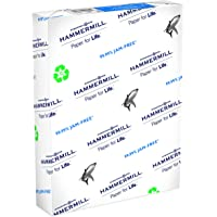 1 Ream of Hammermill 8.5x11 Great White Recycled Printer Copy Paper, 20 lbs, 92 Brightness, 500/Ream