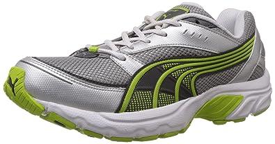 Puma Men s Axis III DP White-Puma Silver-Lime Punch Running Shoes - 11 d0fde61a58