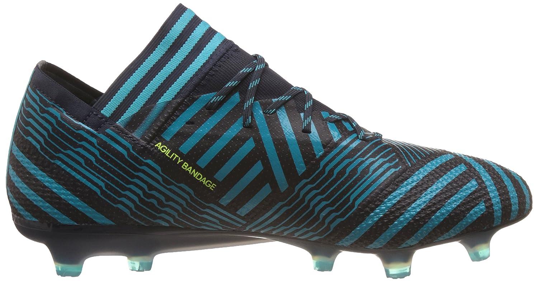 adidas Nemeziz 17.1 FG, Chaussures de Football Homme, Multicolore-Jaune/Bleu (Tinley/Amasol/Azuene), 45 1/3 EU