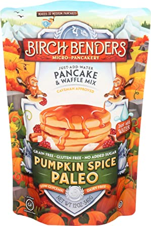 Amazon.com : BIRCH BENDERS GRIDDLE CAKES Paleo Pumpkin Spice Pancake &  Waffle Mix, 12 OZ : Grocery & Gourmet Food