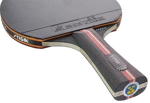 Amazon.com : Stiga 5-Star Fanatic Table Tennis Bat Bat Wooden Ping Pong Bat : Sports & Outdoors