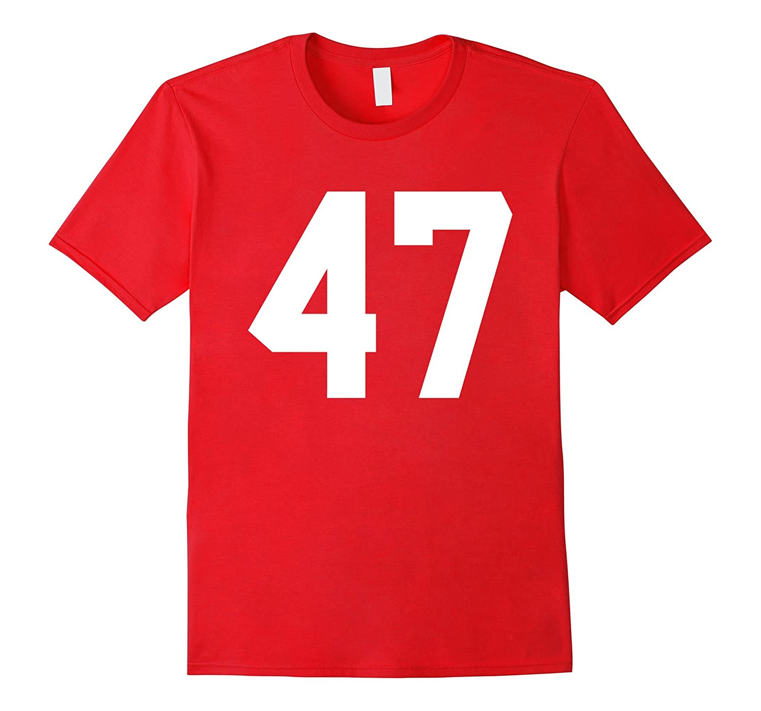 #47 Team Sports Jersey Number Front & Back Player / Fan Tee-CL