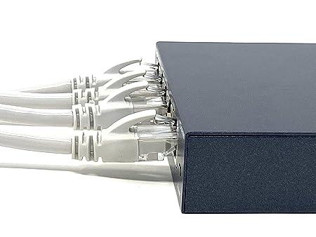 Mr Tronic 50m Câble De Réseau Ethernet Cat5e Awg24 Cca Utp Rj45 Color Gris 50 Mètres