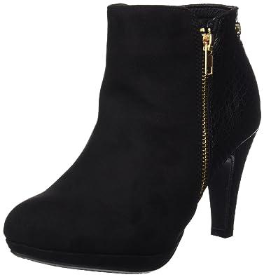 Womens Botin SRA. Antelina Combinada Negro Closed Toe Heels, Black Xti