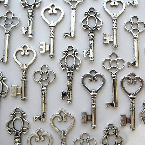 Skeleton Keys Antique Vintage Style Large in Gunmetal Black Finish ...