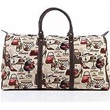 Bolsa de viaje grande de moda Signare para mujer en tela de tapiz bolsa de viaje para el fin de semana boutique