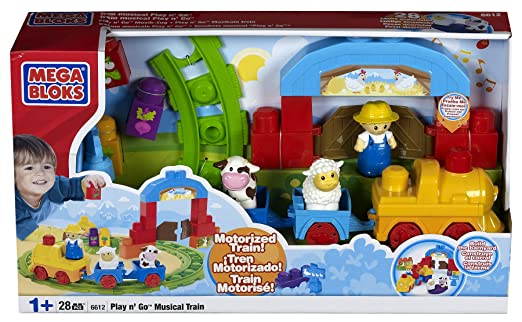 Amazon.com: Mega Bloks Play'n Go Musical Train: Toys & Games