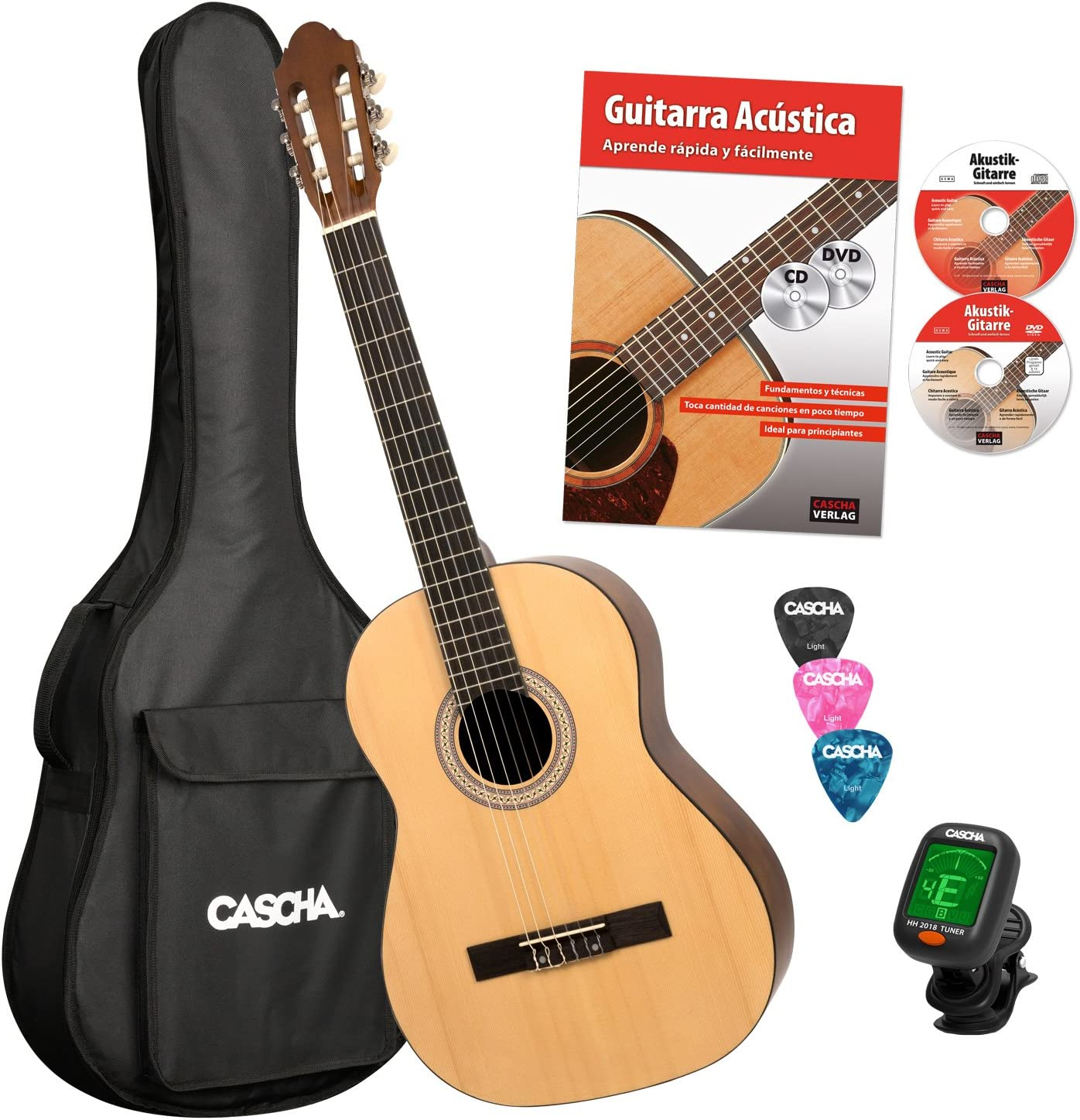 Cascha 4/4 Bundle Guitarra Clásica (HH 2043 ES): Amazon.es ...