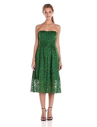 Amazon.com: Vera Wang Women&-39-s Bustier Green Lace Dress: Clothing