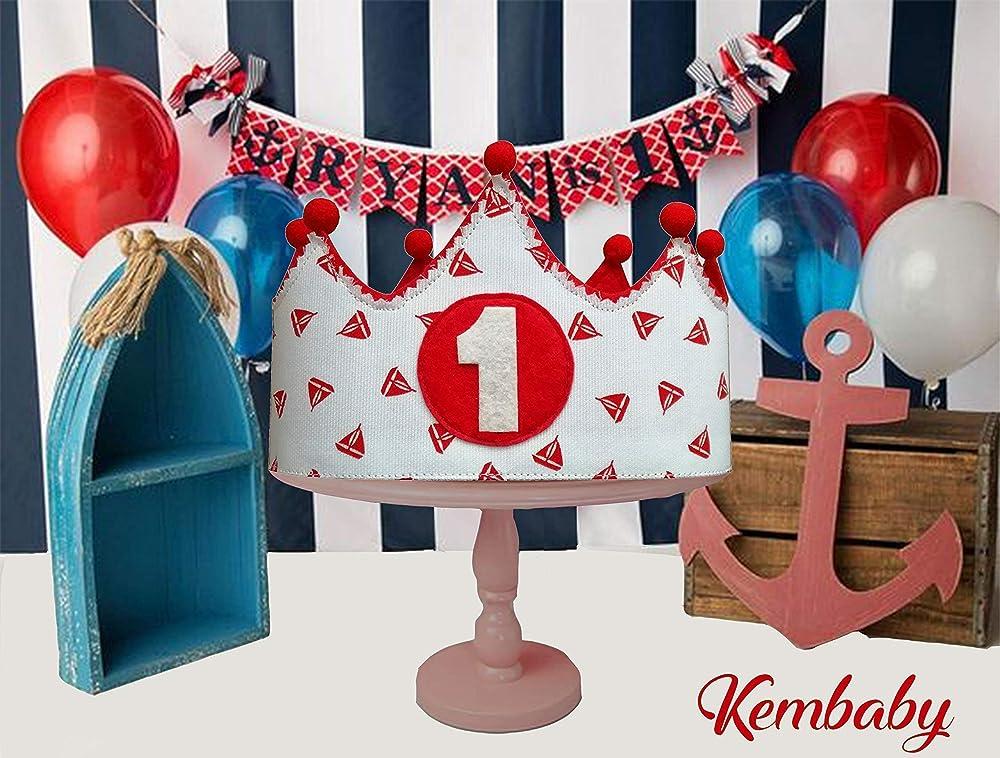 Corona tela primer cumpleaños 1 año para bebes niños y niñas ...