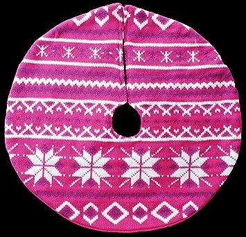 Amazon.com: Fair Isle Knit Mini Christmas Tree Skirt - 18 ...