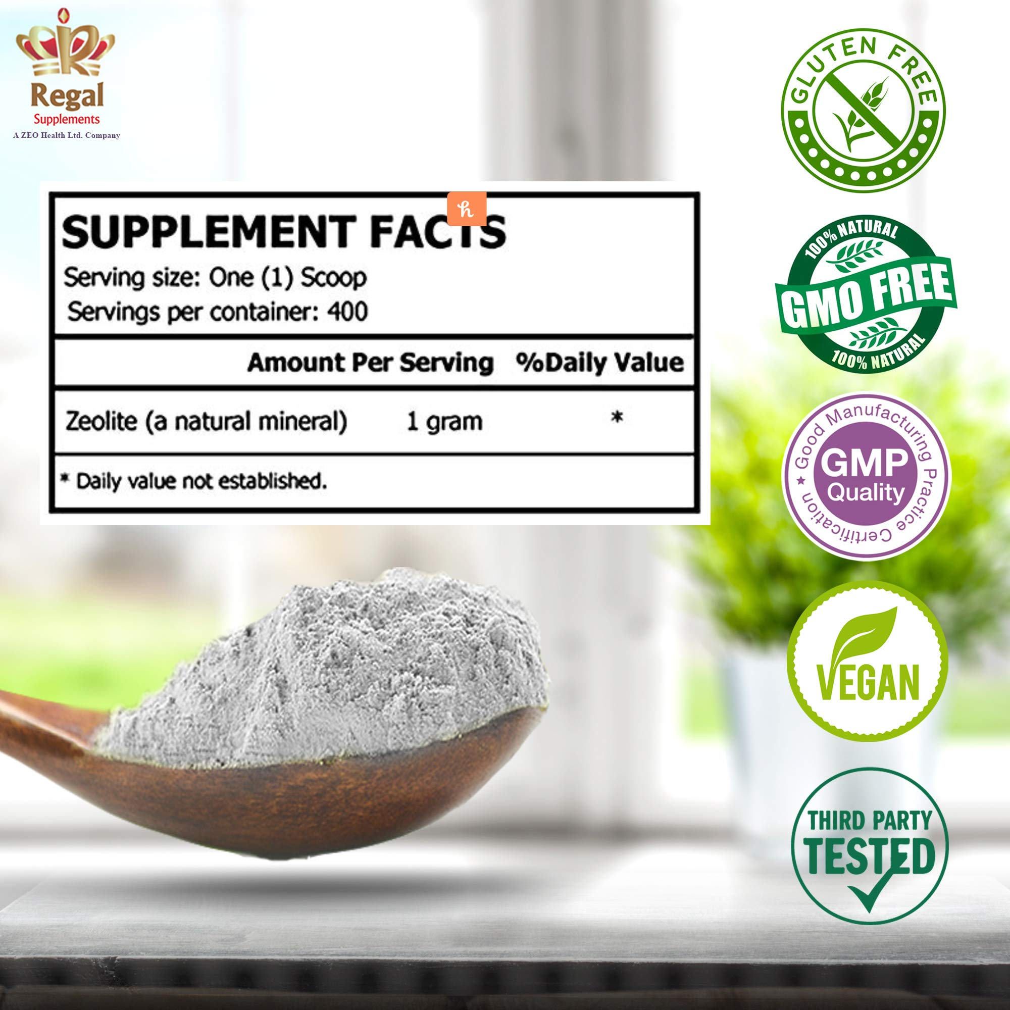 ZEOLITE PURE | Full Body Detox Cleanse | Safe, Gentle, & Effective Energy Booster that Supports Gut Health, Mental Clarity, & Healthy Inflammation Response| Original Zeolite Powder (400 Servings) by ZEOLITE PURE (Image #5)