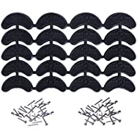 Heel Plates Shoe Heel Taps Tips Sole Heel Repair Pad Replacement with Nails, 10 Pairs, Black