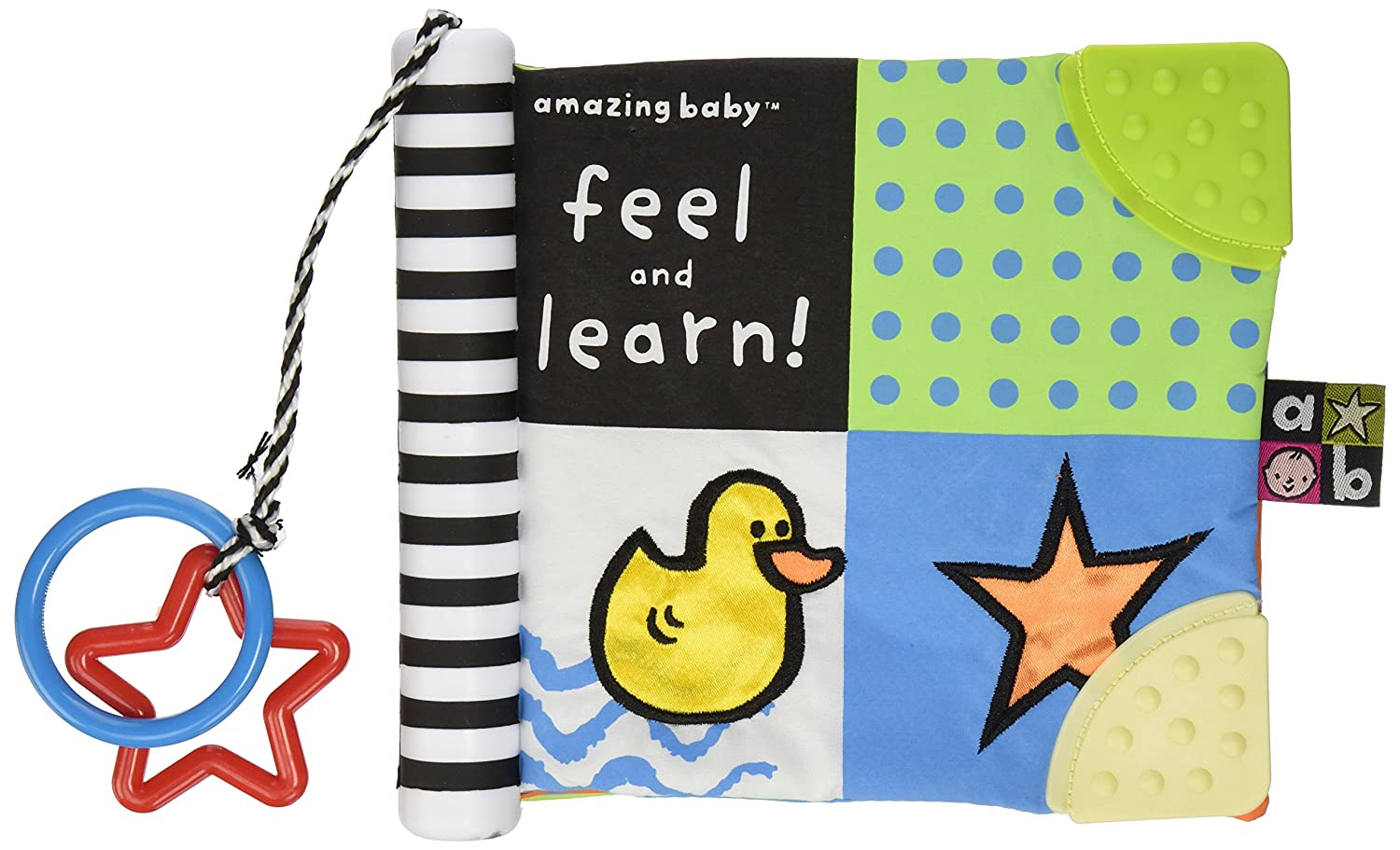 Amazon Amazing Baby Feel And Learn Soft Teether Book 7 Toys