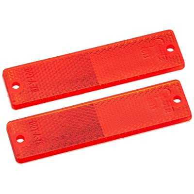 Grote 40132-5 Red Mini Stick-On / Screw-Mount Rectangular Reflectors (Pair Pack): Automotive