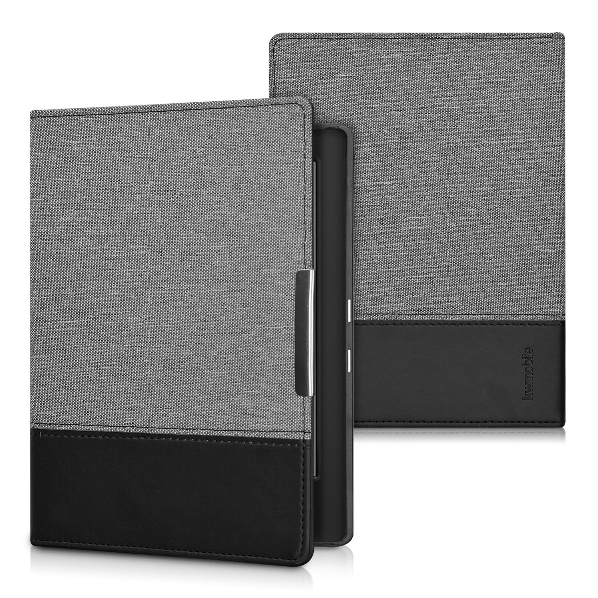 White//Black Book Style PU Leather Protective e-Reader Cover Folio Case kwmobile Case for Kobo Aura H2O Edition 1