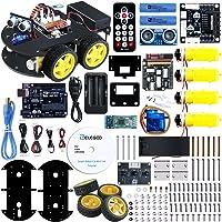 ELEGOO Smart Robot Car Kit V3.0 UNO Elektro Baukasten mit UNO R3, Line Tracking Modul, Ultraschallsensor, APP Steuerung via Smartphone usw. Auto Roboter Spielzeug für Erwachsene und Kinder