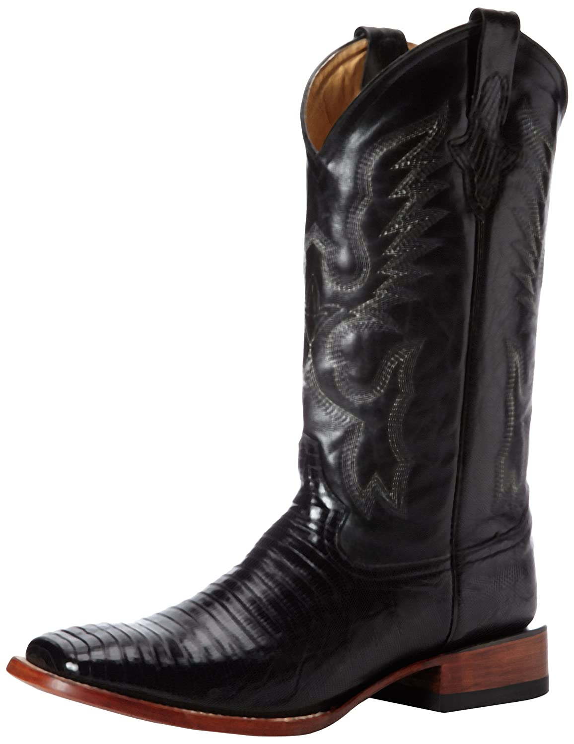 Ferrini Men's Teju Lizard S-Toe Western Boot B00B9GN98E 10 D(M) US|Black