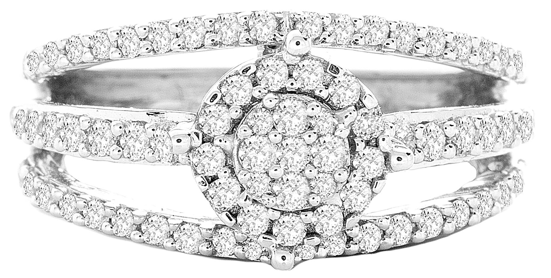 0.73ctw Excellent Cut Round Diamond (H-1 color, i1 - i2 clarity) in 14k Gold Fashion Ring