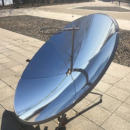 HUKOER Cocina Solar parabólica Portátil con Mayor eficiencia Estufa Solar Horno Solar Parrilla para Familiar (Diámetro de 1, 5 m 1800 W): Amazon.es: Jardín