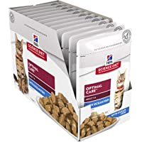 Hill's Science Diet Adult Wet Cat Food, Optimal Care Ocean Fish Cat Food Pouches, 85g, 12 Pack