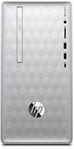 HP Pavilion Desktop Computer, AMD Ryzen 5 2400G, 8GB RAM, 1TB Hard Drive, Windows 10 (590-p0040, Silver)