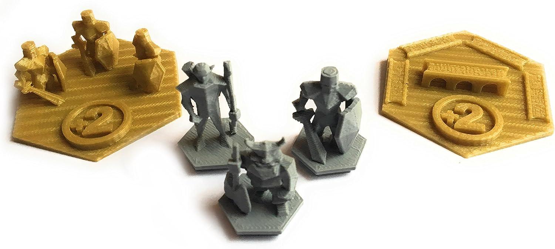 Ten Talents Trading Build3D Victor Bundle para colonos de Catan – Trofeo del ejército más Grande – Trofeo de Carretera más Largo – Tres Tipos de ladrón Personalizados: Amazon.es: Juguetes y juegos