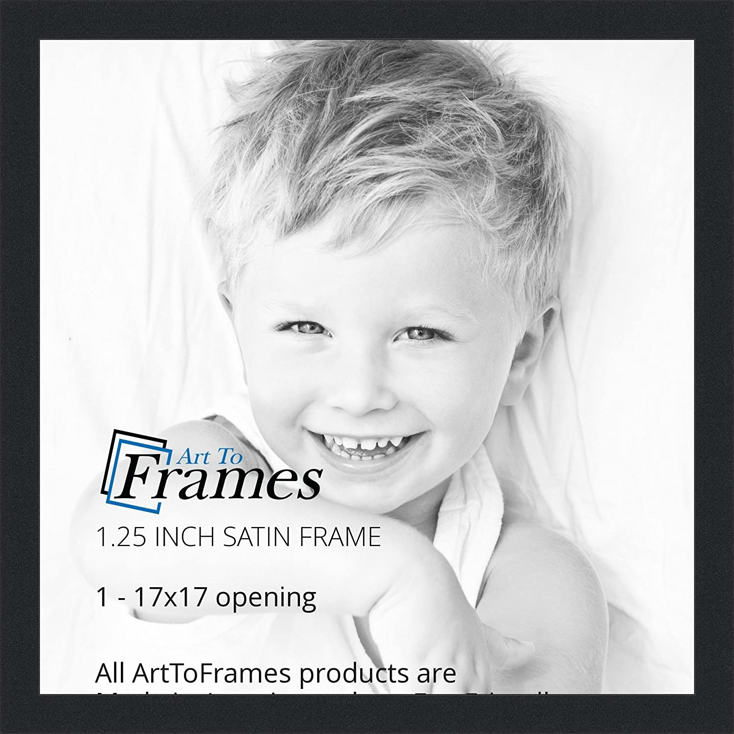 Amazon.com - ArtToFrames 17x17 inch Satin Black Picture Frame ...