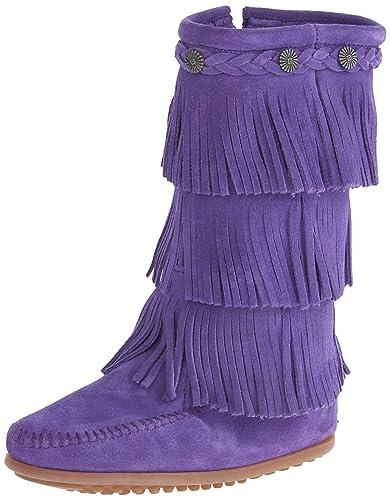 Amazon.com | Minnetonka 3 Layer Fringe Boot | Boots