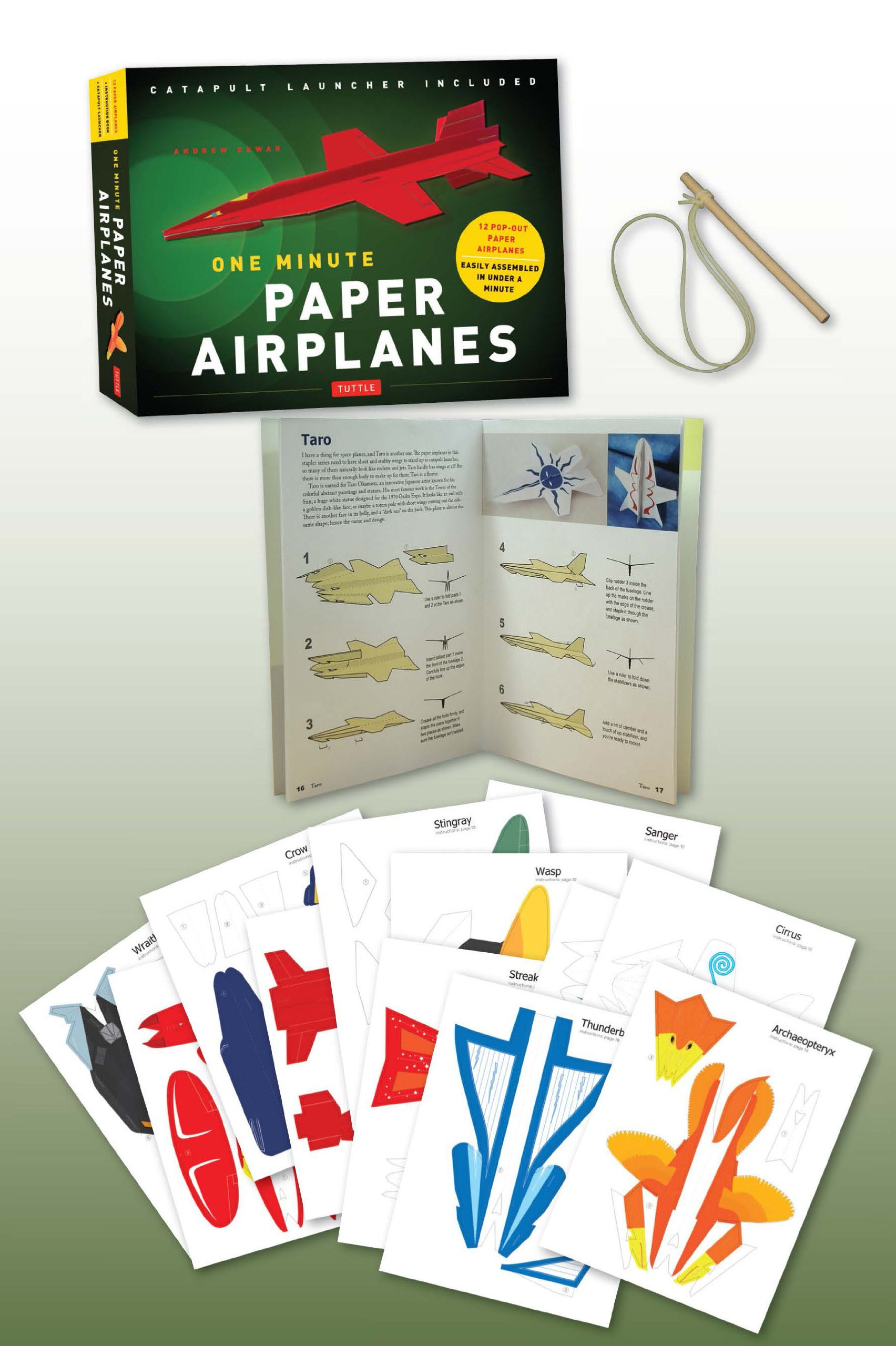 amazon one minute paper airplanes kit 12 pop out planes easily