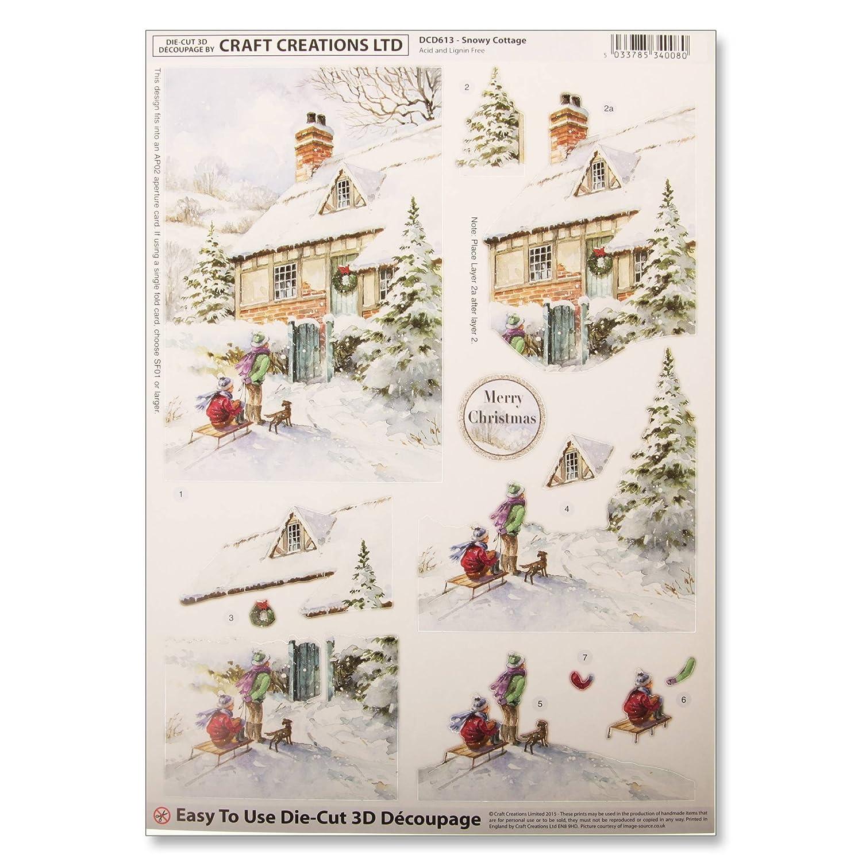 Craft Creations Die-Cut 3D Decoupage Christmas Card Kit - PKDCG001 ...
