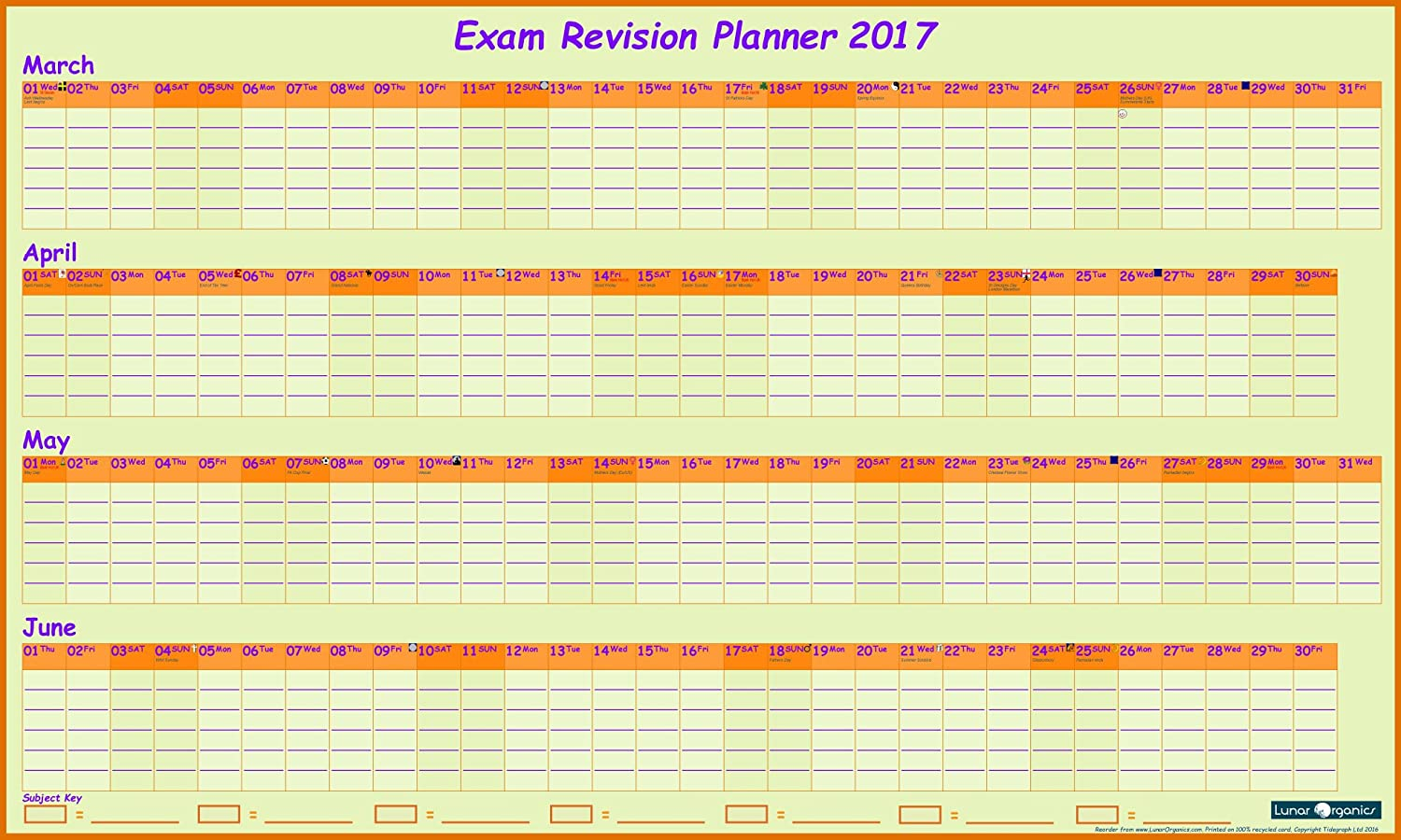 exam revision wall planner 2017 hints tips guide exam revision wall planner 2017 hints tips guide stickers amazon co uk office products