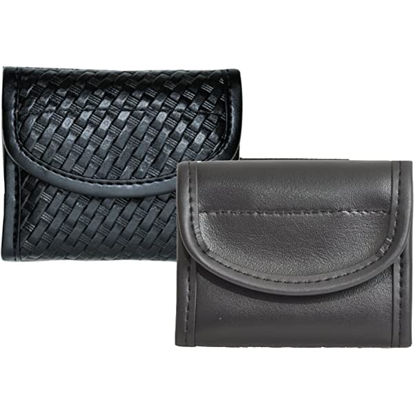 Chrome Snaps Bianchi 22116 AccuMold Elite Pager//Glove Pouch Plain Leather