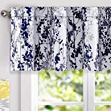 DriftAway Leah Abstract Floral Blossom Ink Painting Thermal Insulated Window Curtain Valance Rod Pocket 52 Inch by 18…