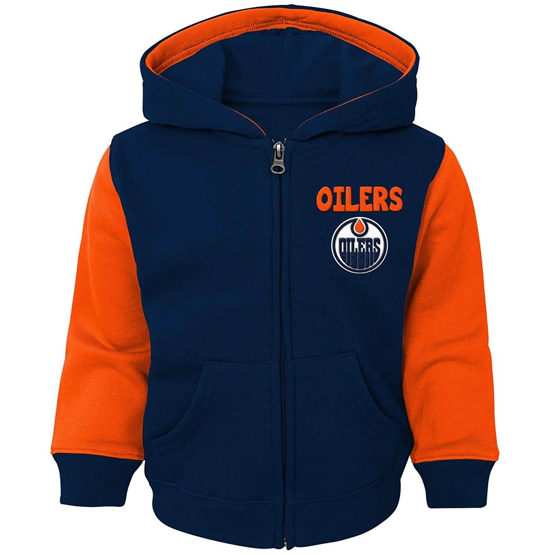 Edmonton Oilers Infant Stadium Full-Zip Fleece Hoodie