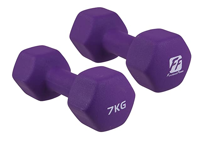 functionalfitness Neo Hex mancuernas par - 2 x 7 kg: Amazon.es ...