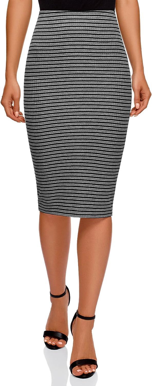 oodji Ultra Mujer Falda Texturizada con Elástico