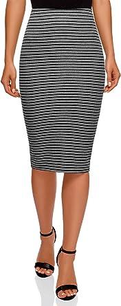 oodji Ultra Mujer Falda Texturizada con Elástico: Amazon.es: Ropa ...