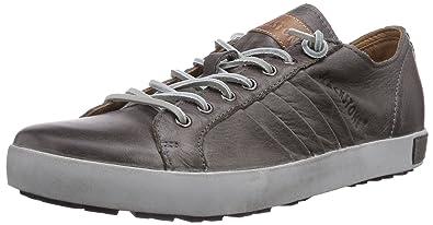 Blackstone Men's JM11 Leather Sneaker,Charcoal Full Grain Leather,EU ...