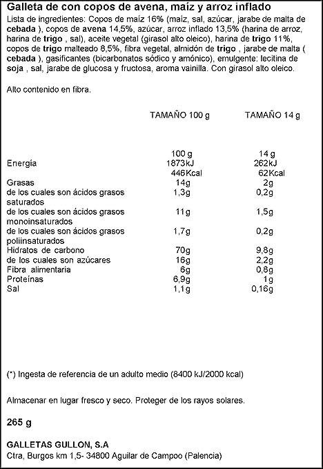 Gullón Vitalday Crocant Original Galleta Desayuno y Merienda - 265 gr: Amazon.es: Alimentación y bebidas