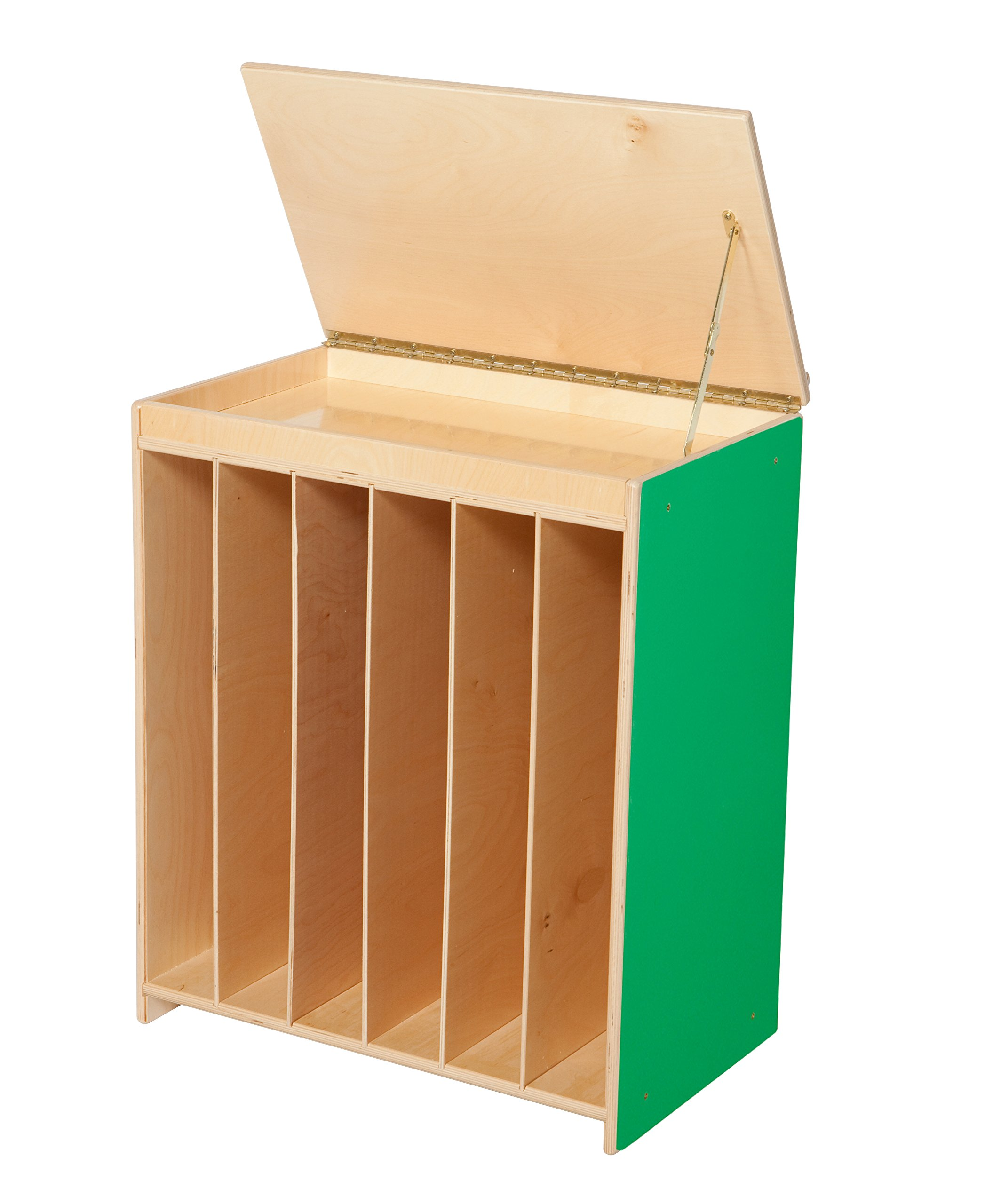 Wood Designs 44100G Green Apple Big Book Display with Flannel, 28'' Height, 18'' Width, 26.5'' Length