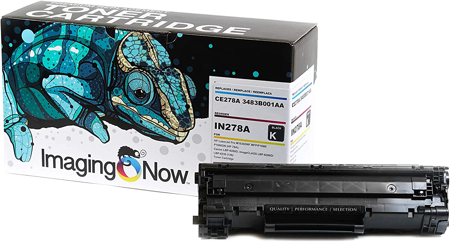 ImagingNow – Eco-Friendly OEM Toner Compatible with HP CE278A (HP 78A) – Premium Cartridge Replacement for Printers M1536DNF MFP P1566 P1606