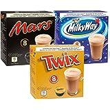 Probeerset Mars, Twix, Milky Way voor Dolce Gusto geschikt (3x8 capsules)
