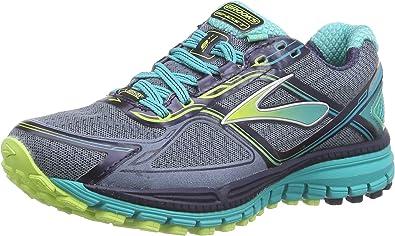 BrooksGhost 8 GTX - Zapatillas de Running Mujer, Azul - Blau (Storm/SharpGreen/Ceramic), 36.5: Amazon.es: Zapatos y complementos