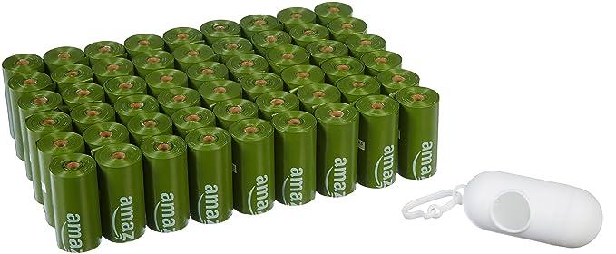 Amazon.com: AmazonBasics Bolsas de basura para perros con ...