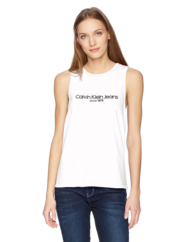 ca0e128f Calvin Klein Women's Tank Top with Ckj Logo at Amazon Women's Clothing  store: