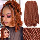 Xtrend 12 Inch Copper Red Spring Twist Hair For Butterfly Faux Locks Short Crochet Braids Hair Synthetic Fluffy Hair Extensio