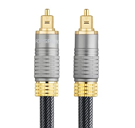 Amazon.com: Forspark Digital Optical Audio 24k Gold Plated Toslink Cable 10ft- Cl3 Rated: Home Audio & Theater
