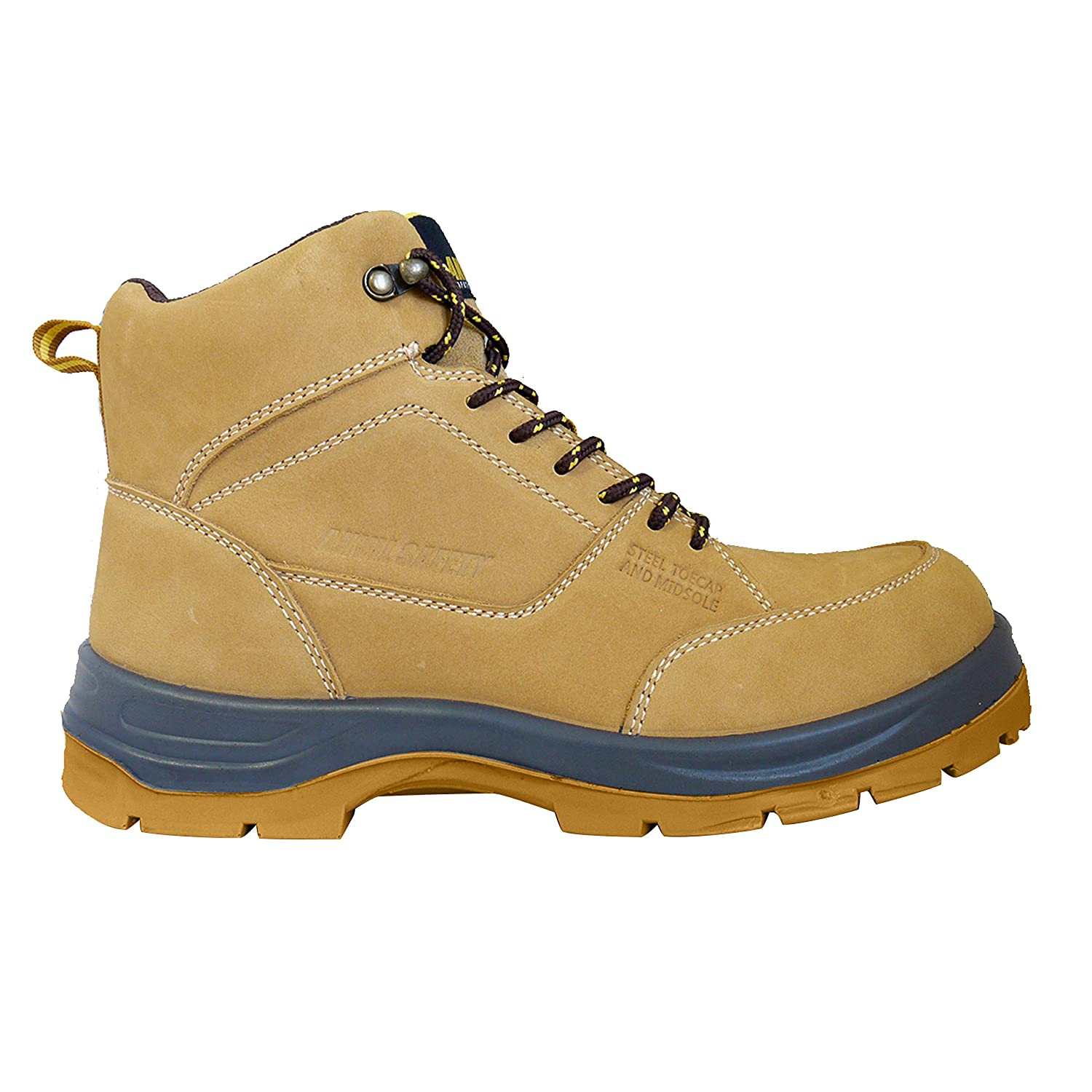 - Anvil Safety Sheffield S3 SRC Honey Nubuck Steel Toe Cap Wide Fit Safety Boots